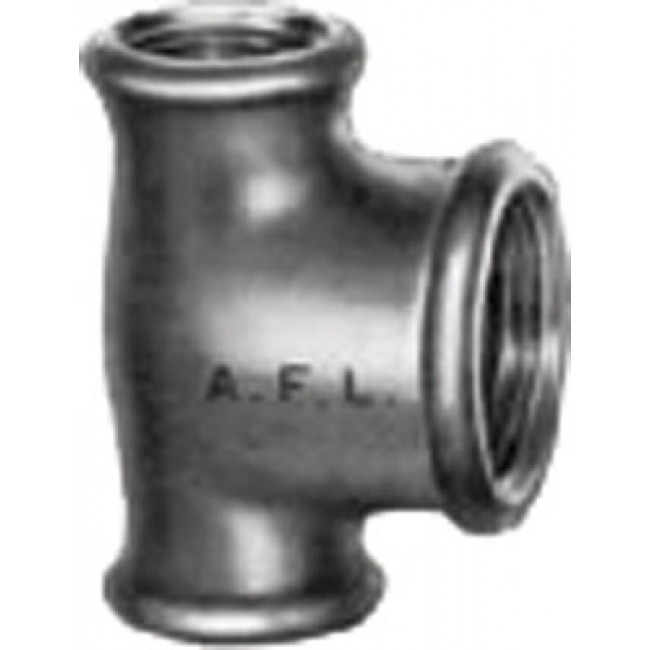 Té réduit fonte malléable noir ou galvanisé CODITAL