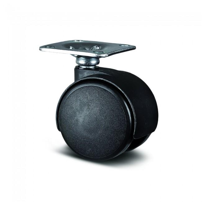 Roulette pivotante table et bureau - fixation platine - Lumina TENTE