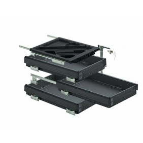 Kit complet Systema Top 2000 pour caissons à tiroirs simples HETTICH