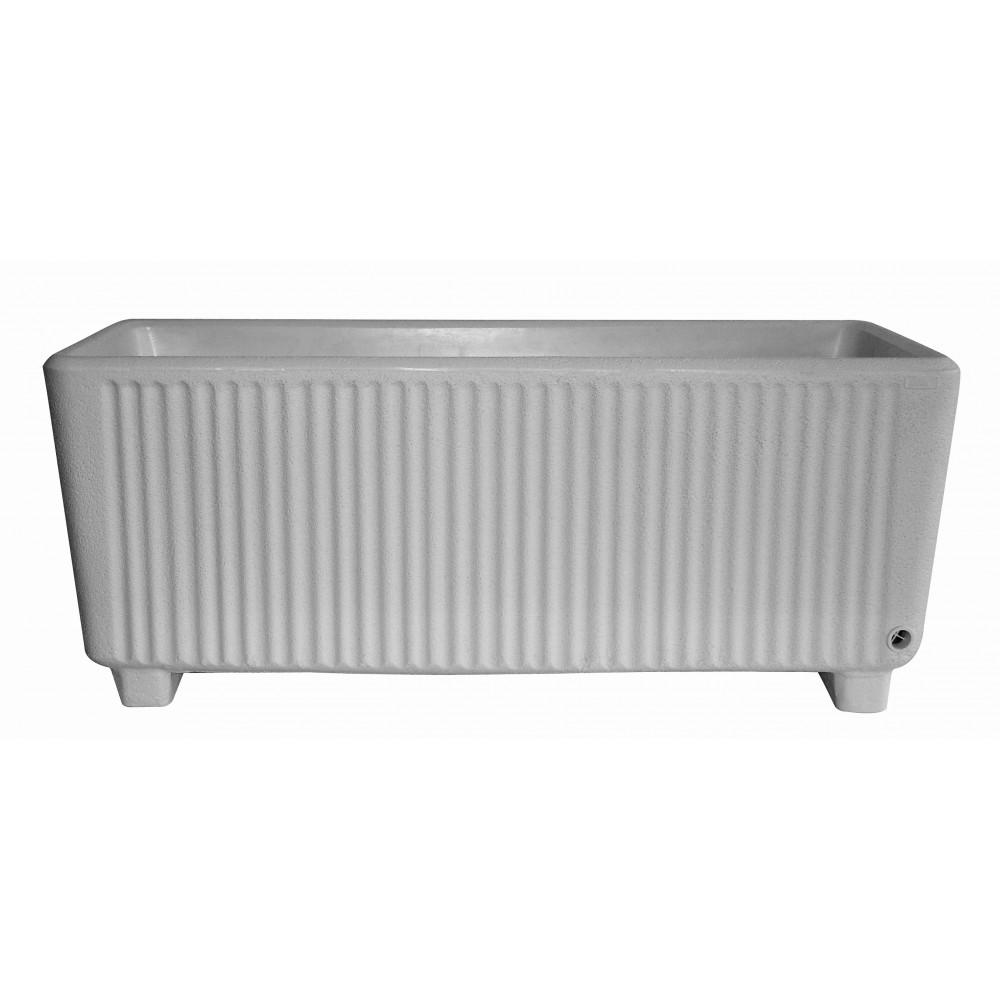 bac rectangulaire avec r serve d 39 eau gris 114 litres. Black Bedroom Furniture Sets. Home Design Ideas