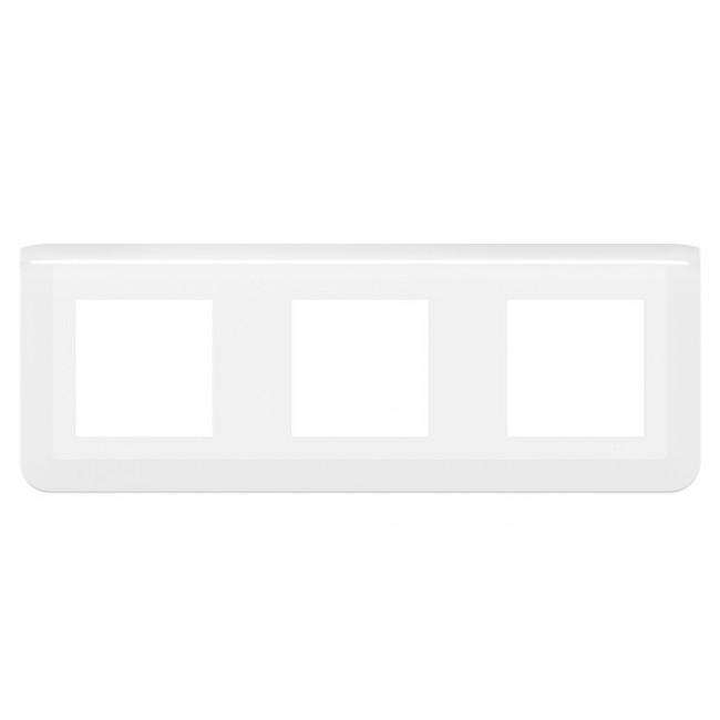 Plaque de finition horizontale Mosaic blanche - 3X2 modules LEGRAND