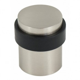 Butoir de sol aluminium finition inox brossé - diamètre 36 x 40 mm BRICOZOR