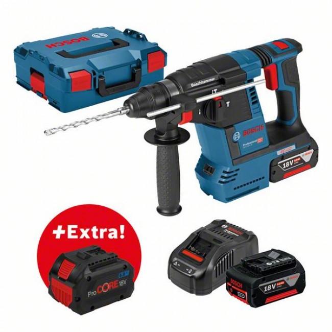 Perforateur sans fil SDS plus 18V 2x5Ah GBH 18V-26F L-BOXX - 0611910002 BOSCH