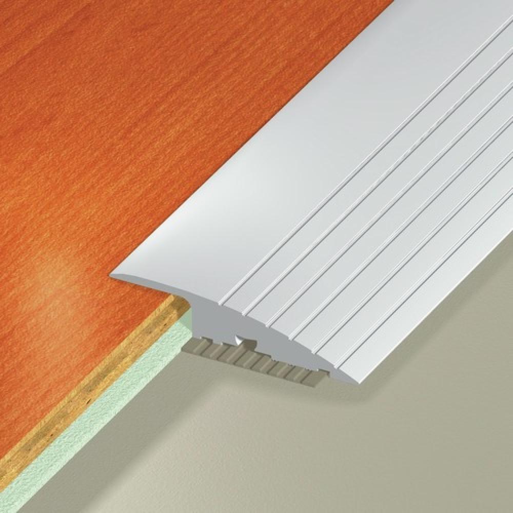 Rampe d 39 acc s visser aluminium anodis largeur 50 mm 3 m bricozor bricozor - Barre de seuil de rattrapage de niveau ...