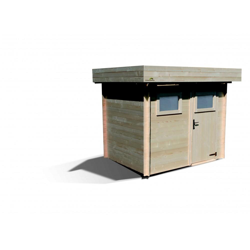 abri de jardin bois 3 9 m2 paisseur 19mm mikk. Black Bedroom Furniture Sets. Home Design Ideas
