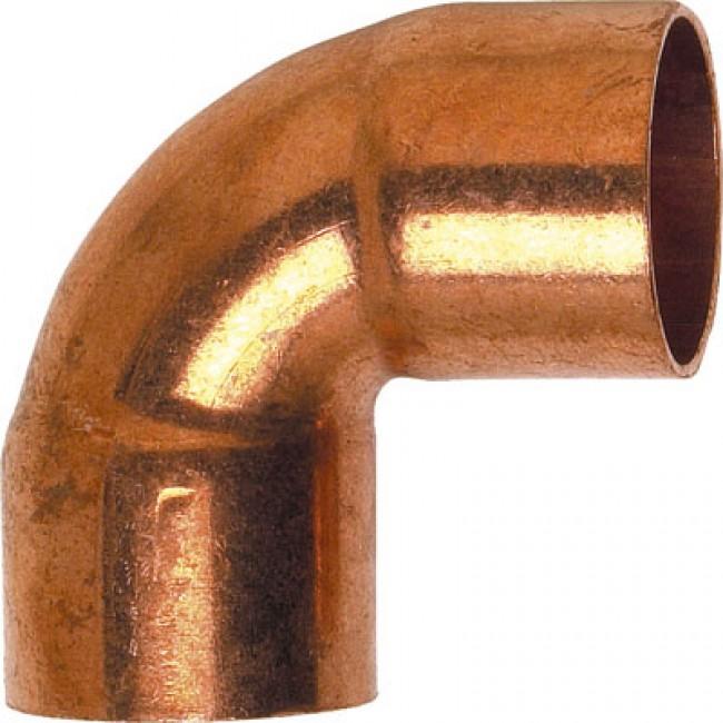 Coude cuivre 90° femelle / femelle à souder BRICOZOR