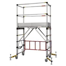 Échafaudage roulant aluminium Teletower - hauteur 2 mètres DUARIB