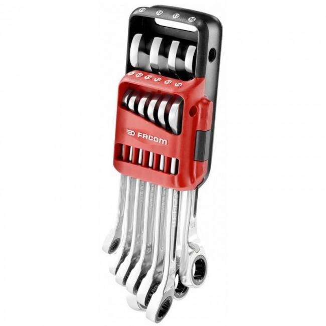 Jeu de 10 clés mixtes à cliquet en étui pocket 8 à 19 mm - 467B.JP10PB FACOM