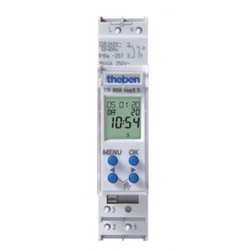 Horloge digitale - programmable 1 module - TR 608 top2 S THEBEN