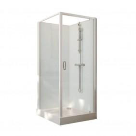 Cabine de douche carrée à porte pivotante Iziglass 2 - 80 ou 90cm LEDA