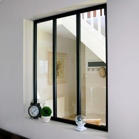 Kit verrière intérieure avec vitrage - 3 panneaux - 108 x 93,2 cm Kit Atelier