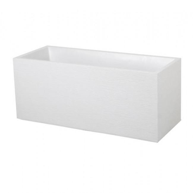 Jardinière - 99,5 x 39 cm - contenance 97,6 L - Graphit blanc cérusé EDA PLASTIQUES