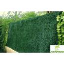 Haie artificielle 243 brins feuillage PVC vert Thuyas - 2 tons de vert - 1,5x3 m JET7GARDEN