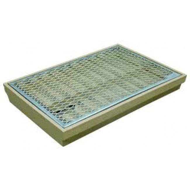 Gratte-pieds - avec couverture et bac - grille en métal ACO