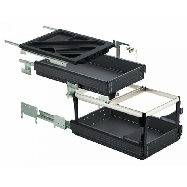 Kit Systema Top 2000 pour caissons à tiroirs simples et à cadre HETTICH