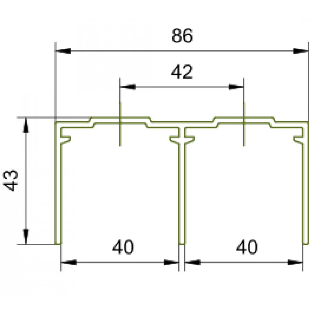 Rail haut de guidage pour porte coulissante symfo 60 bricozor - Patin de guidage porte coulissante ...