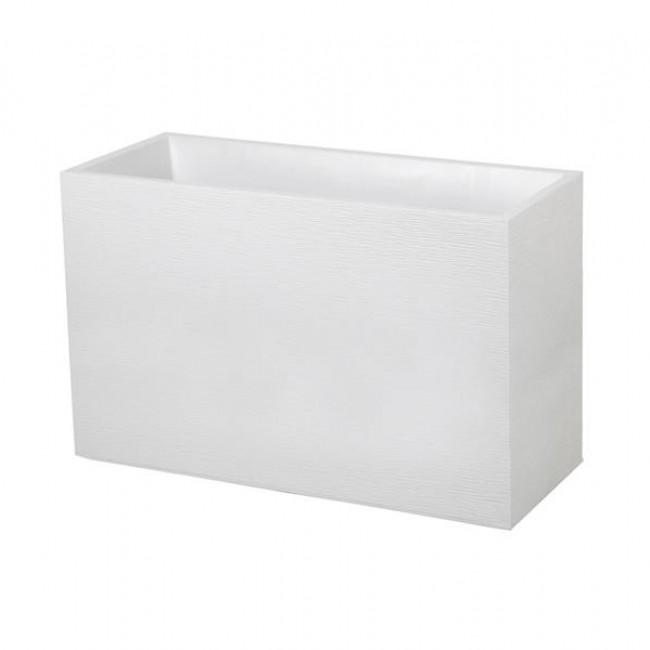 Muret - 99,5 x 39 cm - contenance 116 litres - Graphit blanc cérusé EDA PLASTIQUES