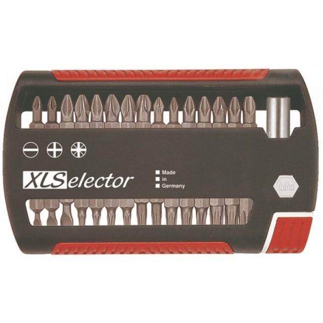 Coffret 30 embouts de vissage XL Selector : fendu, Phillips, Pozidriv et Torx WIHA