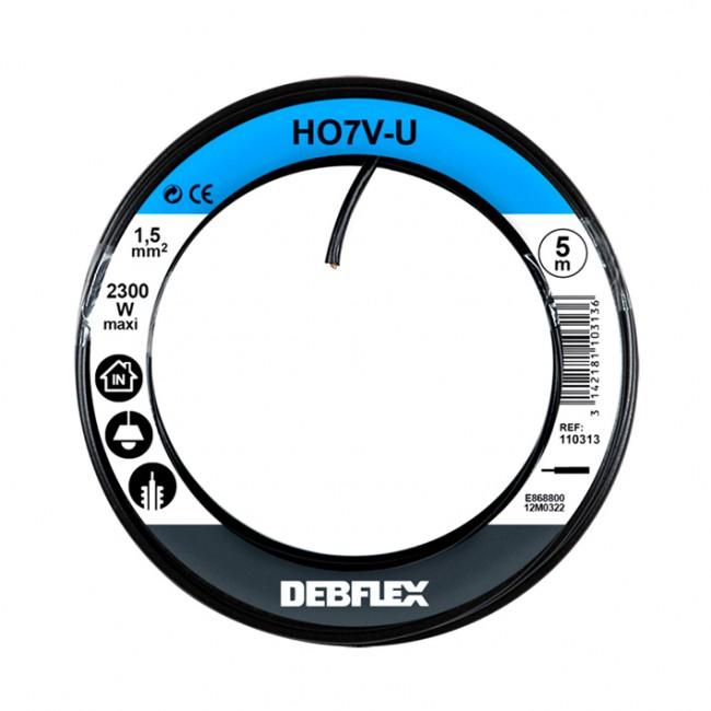 Fil rigide HO7V-U - 1,5 mm² DEBFLEX