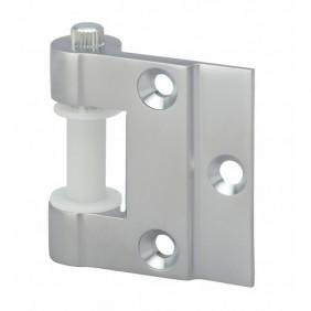 Paire de fiches en applique pour porte en verre - chromé velours - 8916 MÉTALUX