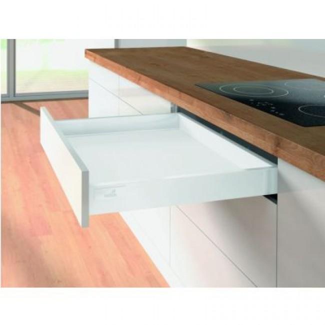 Kit tiroir simple InnoTech Atira-H70 mm-Silent System 50 kg-blanc HETTICH