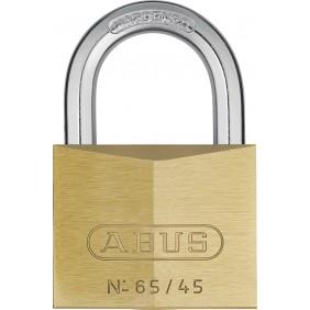 Cadenas à clé - laiton - anse cémentée - 65 ABUS