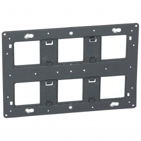 Support à vis Batibox - 2x3 postes - 2x6 ou 2x8 modules LEGRAND
