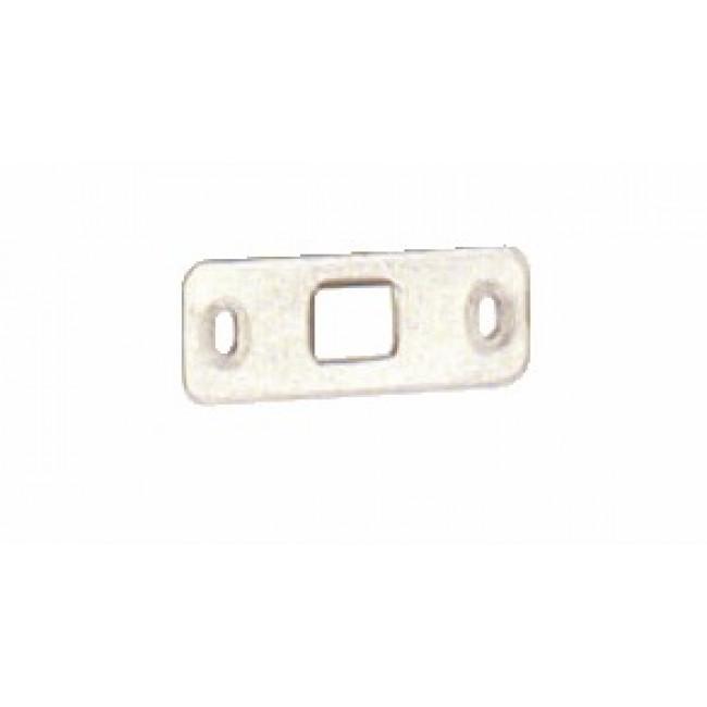 Gâche basse plate inox pour crémone pompier - dimensions 65 x 25 mm LA CROISÉE DS