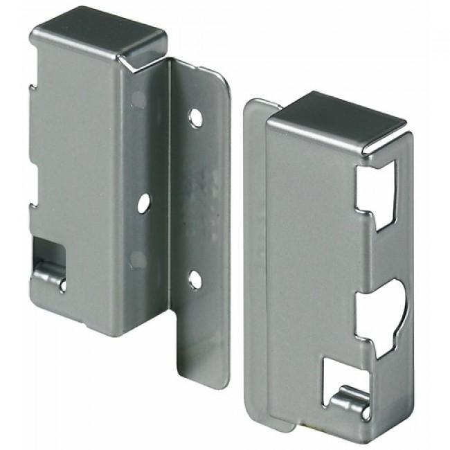 Raccords arrière pour dos en bois/aluminium-hauteur 70mm-argent HETTICH