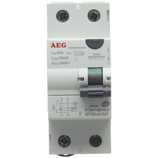 Interrupteur différentiel - 40 A - 30 mA - Type A AEG