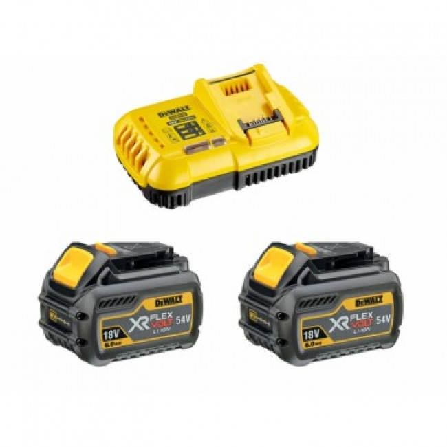 Pack chargeur + 2 batteries XR FLEXVOLT 18/54 V DEWALT