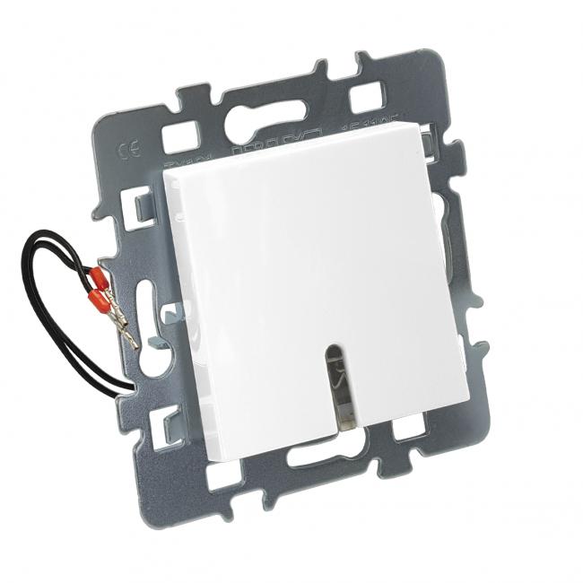 Mécanisme bouton poussoir avec voyant + cache + support métal - Casual DEBFLEX