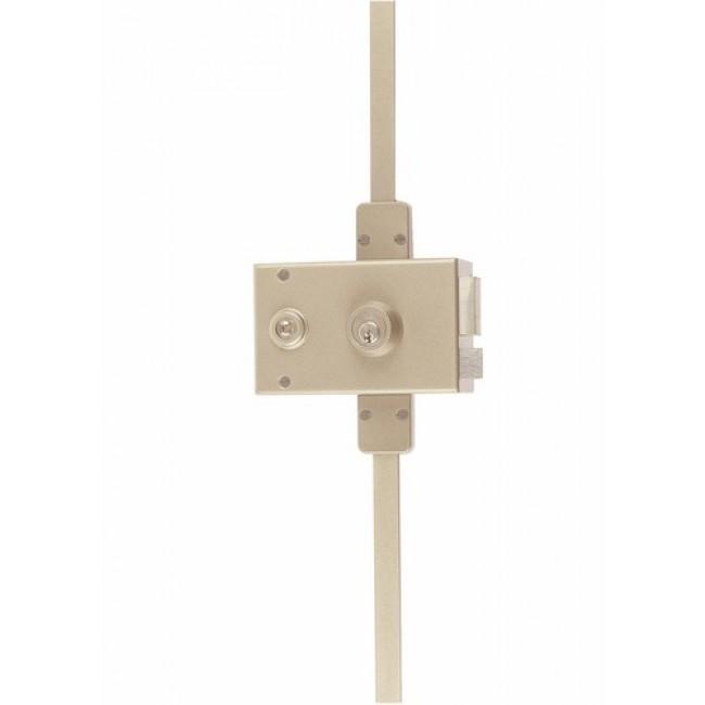 Serrure en applique horizontale - 3 points - cylindre rond - Vega JPM