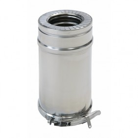 Conduit pellets isolé inox + bride - double paroi - Duoten TEN