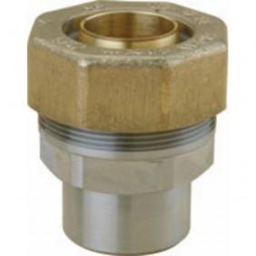 Raccord circuit gaz - tuyau PE - à souder - pour tube acier