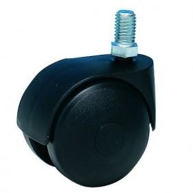 Roulette Twiny chapée sans frein, sur tige filetée GUITEL