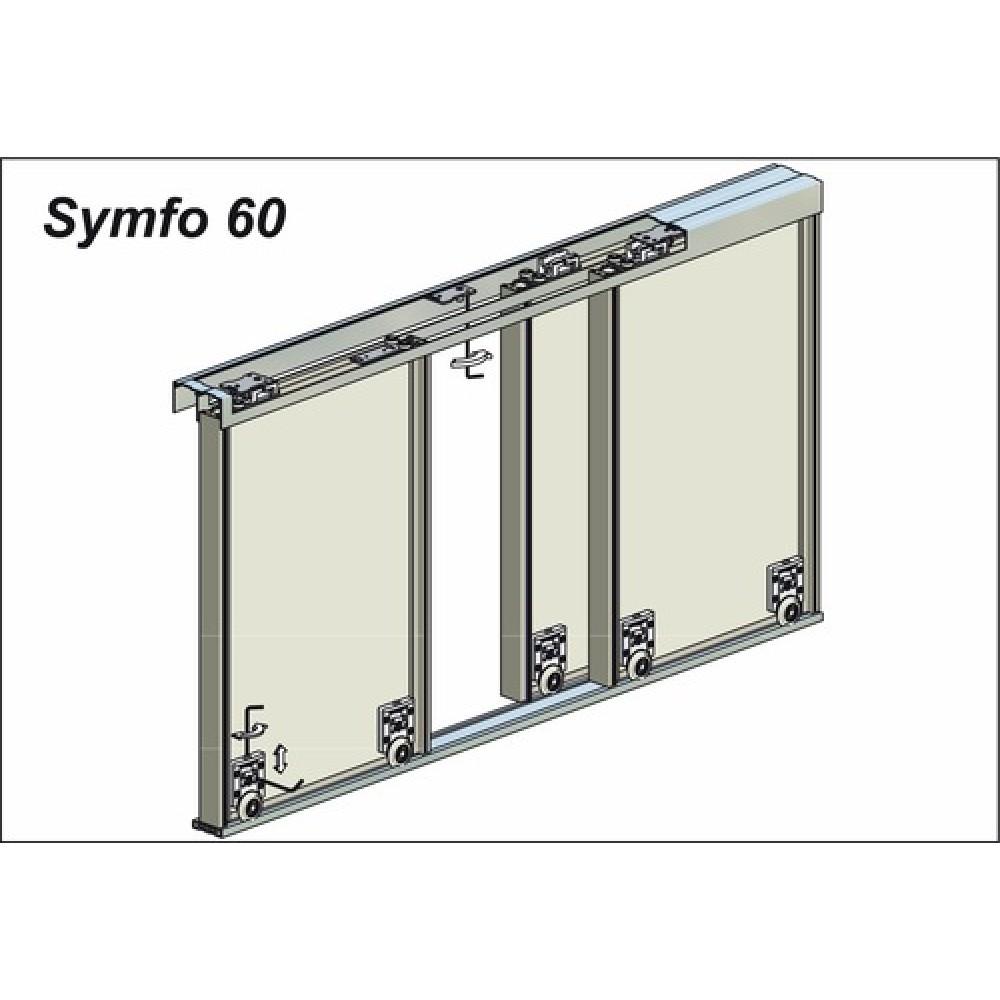 Profil inf rieur encadrement pour syst me coulissant symfo for Porte coulissante 60 x 96