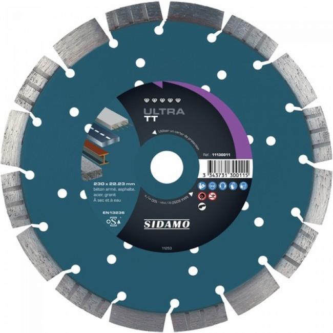 Disque diamant à tronçonner - usage intensif - 230 mm - Ultra TT SIDAMO