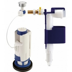 Mécanisme chasse d'eau avec flotteur - double touche - 3V101 compact NICOLL