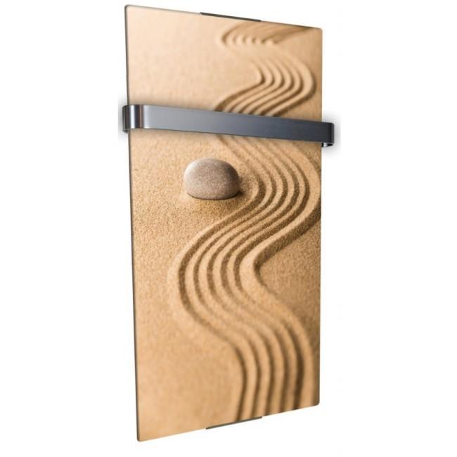 Radiateur sèche serviette 600 W - vertical - Sable CHEMIN' ARTE