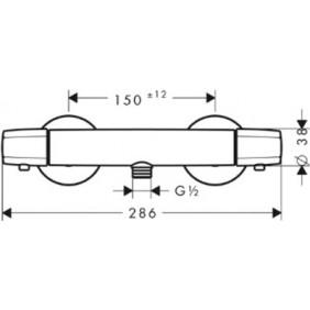 Mitigeur douche thermostatique - Ecostat Comfort 13116000 HANSGROHE
