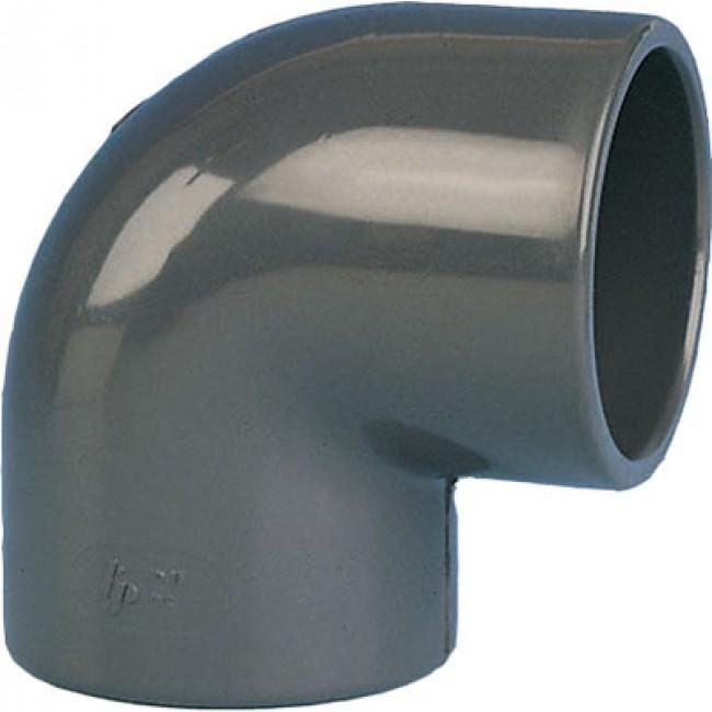 Coude PVC pression 90° femelle / femelle à coller BRICOZOR