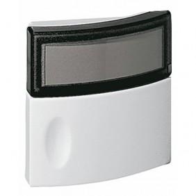Bouton-poussoir Salsa 041647 24V pour carillon ou sonnette LEGRAND
