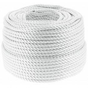 Cordage polyamide blanc - imputrescible et hydrofuge - longueur 100 m CORDERIE MESNARD