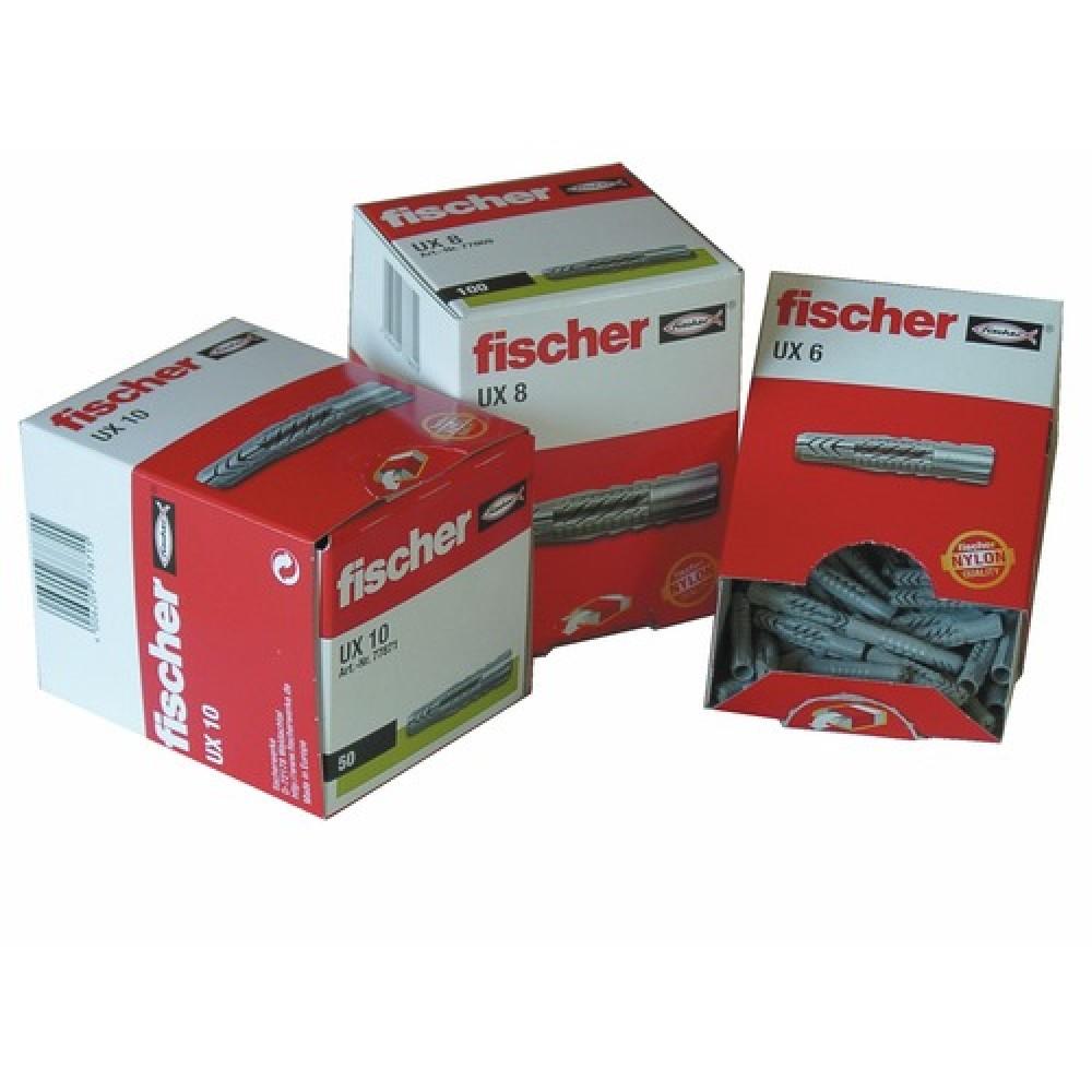 6mm Fischer nylon en plâtre plug usage général Pack 100 nouveaux