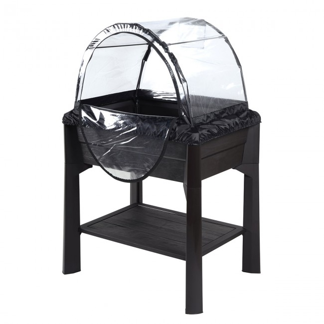 jardini re sur pieds anthracite serre 80 litres. Black Bedroom Furniture Sets. Home Design Ideas