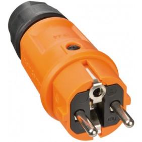 Fiche électrique - 16 A - 2P+T - orange BRENNENSTUHL