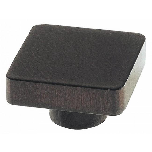 """Bouton de meuble carré hêtre aspect """"wengué"""" BRICOZOR"""