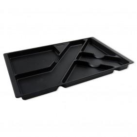 Plateau porte-crayons pour tiroir de bureau - plastique noir EMUCA