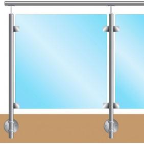 Kit garde corps pour verre - fixation à l'anglaise - inox Design Production